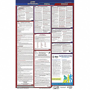 Labor Law Poster,Fed/STA,AR,SP,26inH,5yr