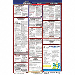 Labor Law Poster, CT Federal and State Labor Law, Spanish, None