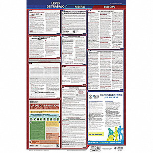 Labor Law Poster, MO Federal and State Labor Law, Spanish, 3 yr.