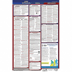 Labor Law Poster, ND Federal and State Labor Law, Spanish, None