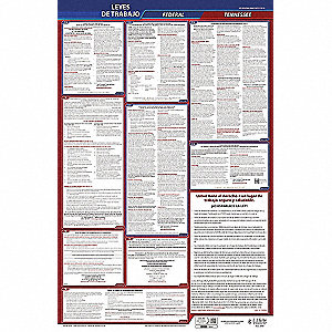 Labor Law Poster, TN Federal and State Labor Law, Spanish, 5 yr.