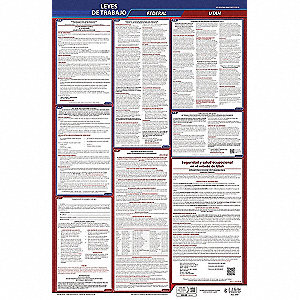 Labor Law Poster, UT Federal and State Labor Law, Spanish, None