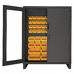 "Bin Cabinet,Louvered,78""H,60""W,24""D"