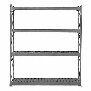 "Starter Bulk Storage Rack with Ribbed Steel Decking and 4 Shelves, 48""W x 30""D x 96""H"