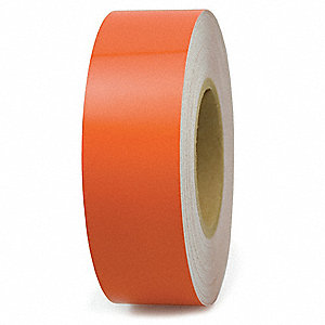 "Engineer Grade Reflective Tape, Solid, Continuous Roll, 4"" Width, 1 EA"