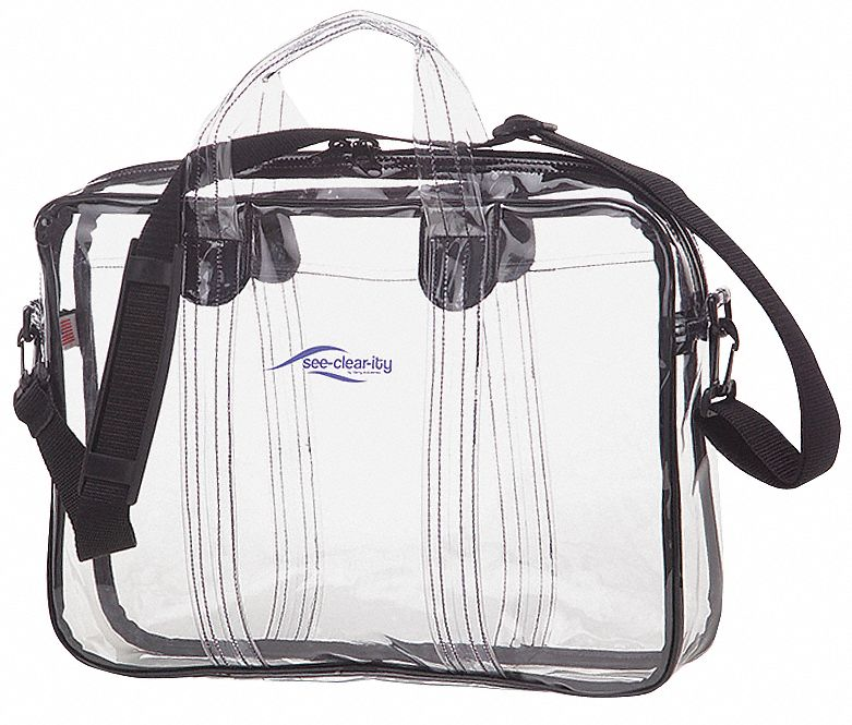 Briefcase, PVC Plastic, Clear