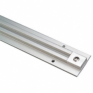 CORTECH 75D Anodized Aluminum Shower Curtain Track Includes Secure End Stop Bit