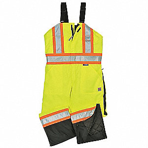Hi-Vis Insulated Bibs,Flo Green,4X