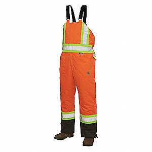 Hi-Vis Insulated Bibs,Flo Orange,L