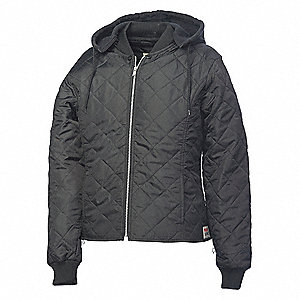 Womens Freezer Jacket, Polyester, Black, M