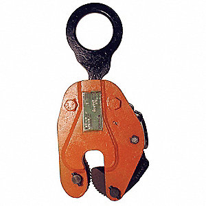 Plate Clamp,2000 lb,Vertical,0 to 3/4 In