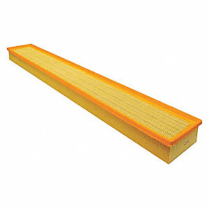 "Air Filter, Rectangular, 2-13/32"" Height, 34-17/32"" Length"