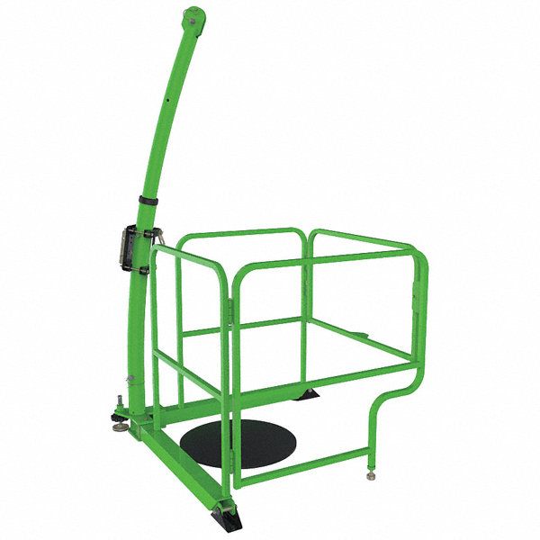 Dbi sala green in davit guard powder coated paint