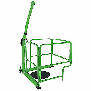 "Green 4-in-1 Davit Guard, Powder Coated Paint Finish, 88"" Overall Height"