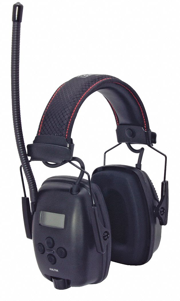 Over-the-Head Electronic Ear Muffs,  25 dB Noise Reduction Rating NRR,  Dielectric No,  Black