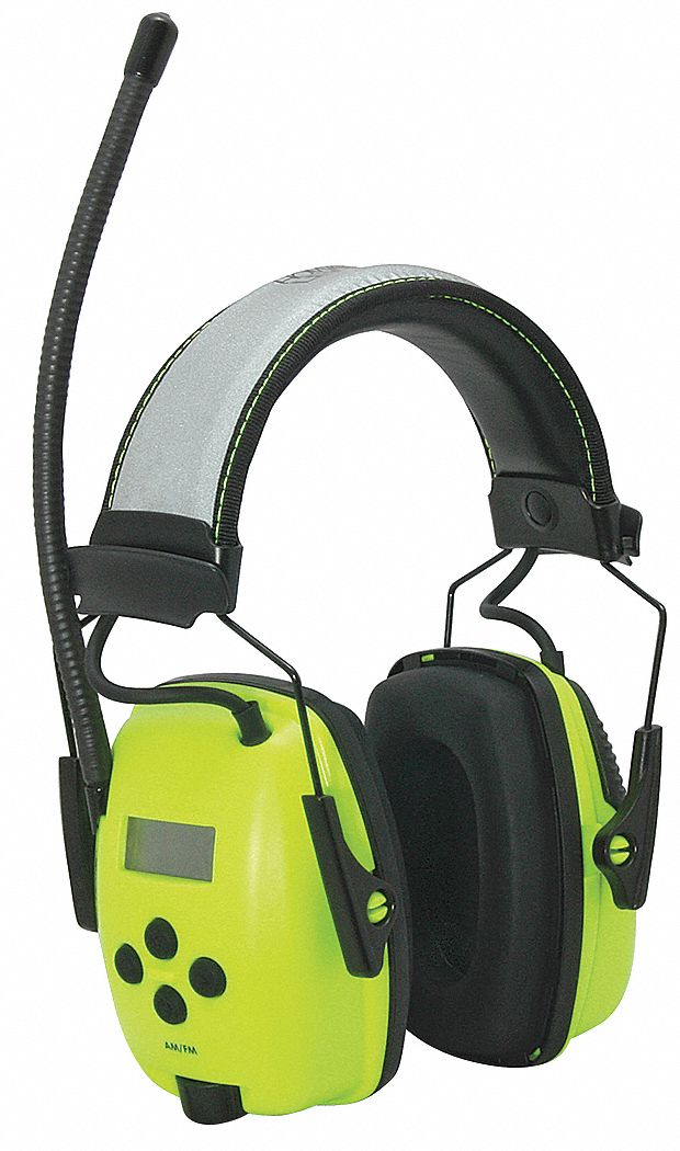 Over-the-Head Electronic Ear Muffs,  25 dB Noise Reduction Rating NRR,  Dielectric No