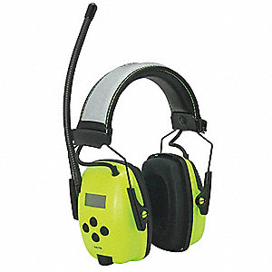 Over-the-Head Electronic Ear Muffs, 25dB, Radio Band Type: AM/FM