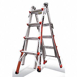Little Giant 17 Ft Aluminum Multipurpose Ladder 300 Lb