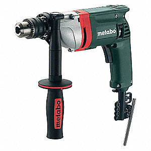 "1/2"" Electric Drill, 6.7 Amps, Pistol Grip Handle Style, 0 to 650 No Load RPM, 120VAC"