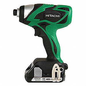 "1/4"" Cordless Impact Driver Kit, 18.0 Voltage, 106 ft.-lb. Max. Torque, Battery Included"