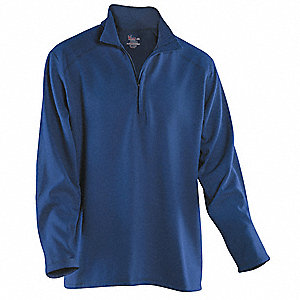 "Navy Blue Flame-Resistant Mock Turtleneck Shirt, Size: 2XL, Fits Chest Size: 60"", Ebt - 13.2 ATPV Ra"