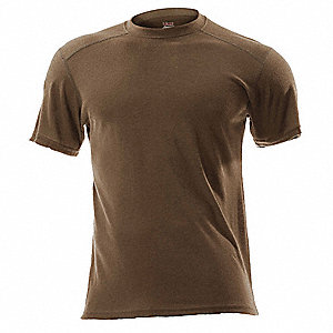 Coyote Brown Flame-Resistant Crewneck Shirt, Size: S, Fits Chest Size: 36, Ebt 3.3 ATPV Rating