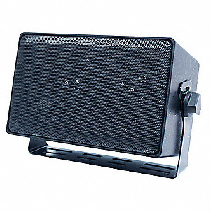 3-Way Indoor/Outdoor Speaker,4 In,Black