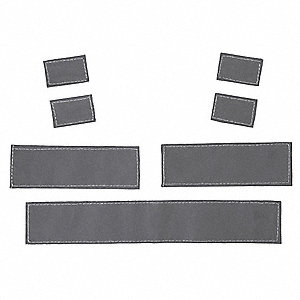 "Lime Replacement Reflective Tape Kit, Seven Pieces, Width 10.44"", Length 10"""