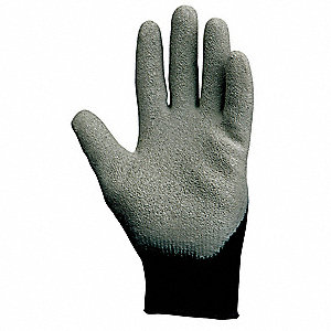 10 Gauge Coated Gloves, Black/Gray