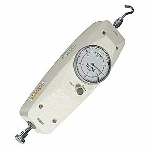 Analog Force Gauge,5 lb.