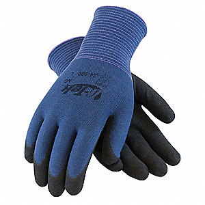 13 Gauge Micro-Surface Nitrile Coated Gloves, Size XL, Purple/Black