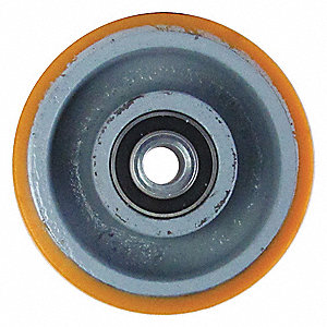"6"" Caster Wheel, 2300 lb. Load Rating, Wheel Width 3"", Polyurethane, Fits Axle Dia. 3/4"""
