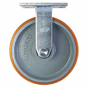 "10"" Medium-Duty Rigid Plate Caster, 2750 lb. Load Rating"