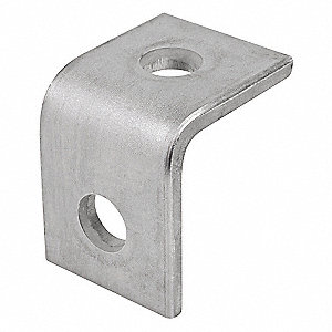 316 Stainless Steel Two Hole Angle Bracket, Polished Brite Finish