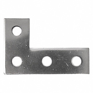 316 Stainless Steel Four Hole Angle Plate, Polished Brite Finish