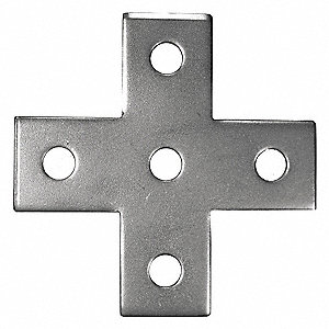 316 Stainless Steel Cross Plate, Polished Brite Finish