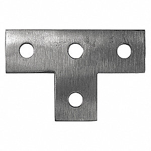 316 Stainless Steel Tee Plate, Polished Brite Finish