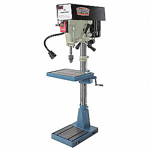 "1-1/2 Motor HP Drill Press, Belt Drive Type, 20"" Swing, 110 Voltage"