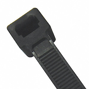 "7.50""L x 0.19""W Standard Indoor, Outdoor Cable Tie, Black; Tensile Strength: 50 lb."