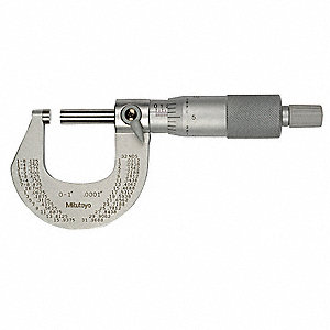 Ratchet Thimble Outside Micrometer, 0-1 Range (In./mm)