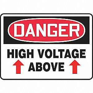 "Electrical Hazard, Danger, Cardstock, 10"" x 14"", Surface, Not Retroreflective"