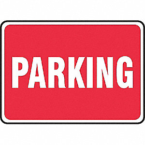 "Parking, No Header, Cardstock, 10"" x 14"", Surface, Not Retroreflective"
