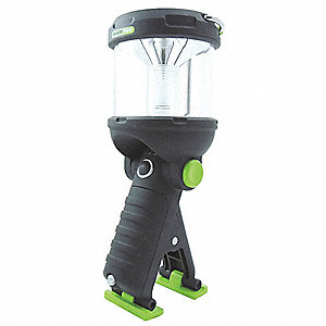 Lantern, LED, Plastic, Maximum Lumens Output: 230, Black