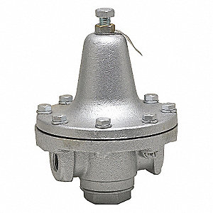 "Process Steam Pressure Regulator, Medium Capacity Valve Type, Iron, 1/2"" Pipe Size"