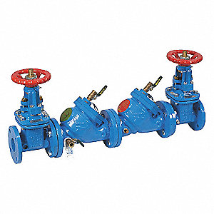 Double Check Valve Assembly, Cast Iron, Watts 709 Series, Flanged Connection
