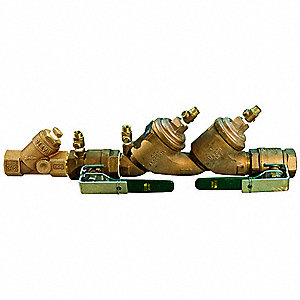 Double Check Valve Assembly, Bronze, Watts 719 Series, FNPT Connection