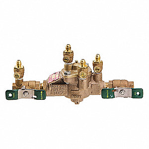 Reduced Pressure Zone Assembly, Bronze, Watts 009 Series, FNPT Connection
