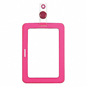 Badge Holder,Rubberized,Pink,PK2
