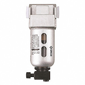 "Compressed Air Filter,1/4"" NPT,Miniature"