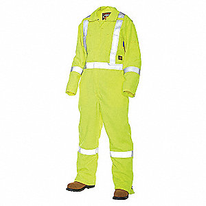 FR COVERALL UNLINED HI VIS